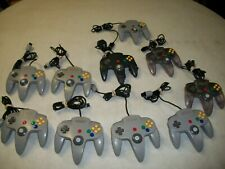 Lot of 10 Authentic Nintendo 64 N64 OEM Wired Controllers AS IS Tested