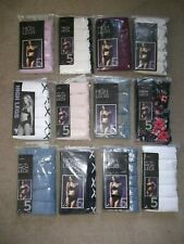 5 PACK EX M&S HI LEG, BRIEFS,KNICKERS,8,10,12,14,16,18, FREE POSTAGE