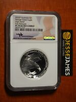 2020 $1 AUSTRALIA WEDGE TAILED SILVER EAGLE NGC NGC PF70 HIGH RELIEF MERCANTI FR