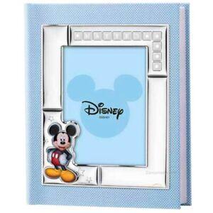Album Fotografico Mickey Mouse Disney Personalizzabile in Ecopelle Azzurra D385