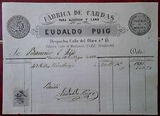 X3-SELLO FISCAL SOBRE DOCUMENTO AÑO 1883 EDIFIL ALEMANY AÑO 1883 Nº4.VALOR SOBRE