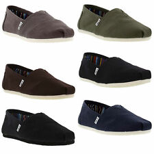 Toms Classics Mens Canvas Slip On Espadrilles Shoes Size UK 6-12