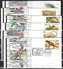 Romania, 1993 issue. 02-07/NOV/93. Dinosaur Cancels on Cachet Covers.