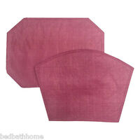 NEW Restaurant Quality Vinyl Placemats Burgundy Pink Placemats
