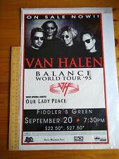 More details for van halen - balance world tour 95 - poster 10.5