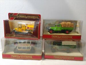 Matchbox Models Of Yesteryear Diorama Box 1:43 Diecast 4x Truck Lot