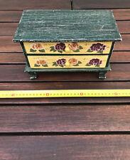ancien meuble placard display vintage maison de poupee en bois commode tiroirs