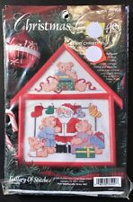New listing Bucilla Christmas Cottage Counted Cross Stitch Kit Beary Christmas 4X6 Frame