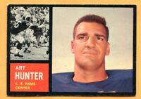 1962 Topps Football # 84B Art Hunter (EX) Lot 701-- Los Angeles Rams