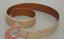Ralph Lauren Snake Skin Leather Belt Size M Pink Champagne Made in Italy $1100