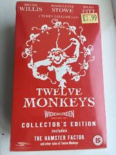 Twelve Monkeys Collectors Edition Vhs Widescreen Boxed 15 Brand New And Sealed