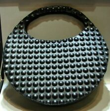 RARE Issey Miyake White Label Black Perforated Leather Bag