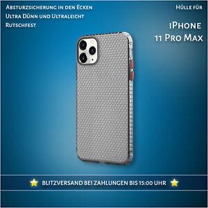 Hülle für iPhone 11 Pro Max Case Durchsichtig Schwarz Cover Handyhülle Klar