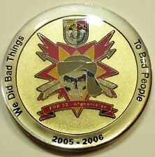 3rd Special Forces Group 2005-06 FOB 32 Afghanistan Army Challenge Coin