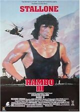 RAMBO III ~ BLACK TANK TOP ~ 22X34 MOVIE POSTER ~ NEW/ROLLED