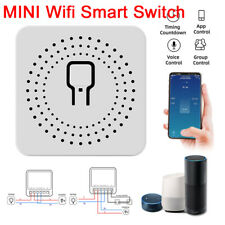 1-10Pcs MINI Wifi Smart Switch Timer Wireless Switch Work With Tuya Alexa Google