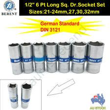 "7PC CRV 1/2"" Drive Metric German Standard Deep Socket Set 21-24,27,30,32mm"