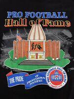 NOS NWT Vintage Pro Football Hall of Fame Mens Shirt Black XL Canton Ohio Retro