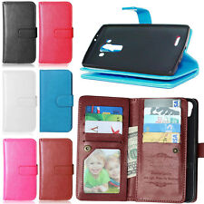 9 Card Slots Stand Flip Leather Wallet Case Cover For LG G3 G4 G5 K7 K10 LS770