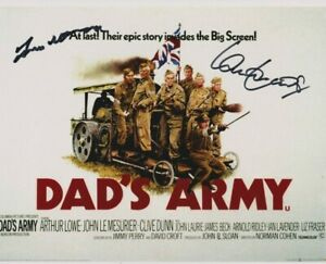 Frank Williams, Ian Lavender poster photo signed in person - Dad's Army - K639