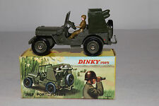 1960's French Dinky #828 Rocket Carrier Jeep, Nice with Original Box, Lot #1a