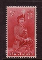 NEW ZEALAND....  1953 QE11   5/- red mnh