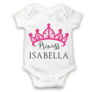 Personalised Baby Grow Vest Bodysuit Boys Girls Name Funny Baby Shower Gift 90