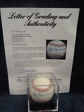 Alex Hannum (NBA Coach - D 2002) Autographed Baseball – Graded PSA 8.5
