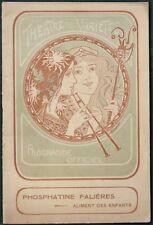"""Théatre des Variétés """"La Piste"""" w Gabrielle Réjane 1906 French Theater program"""