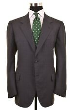 Brioni Gray Blue Glen Plaid Red Check Worsted Wool Sport Coat Jacket Blazer 45