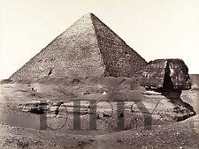 PLAQUE ALU DECO PHOTO FRANCIS FRITH PYRAMIDE SPHINX EGYPTE 1858