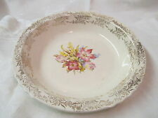 Vintage French Saxon China Co Sebring OH 22K gold trim Soup Bowl FSX4 pattern