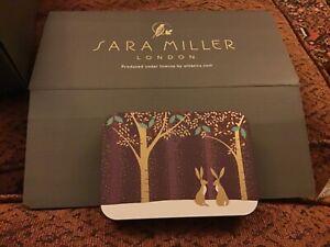Sara Miller CHRISTMAS Tin  11.5x8x2.5cms, 2  HARES