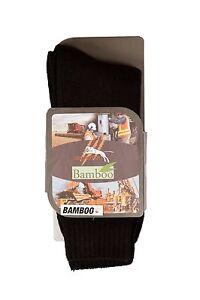 4pairs BAMBOO workSOCKS BLACKmens 6-10 antibacterial healthy feet + FREE 20 pens
