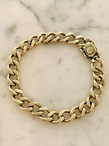 Vintage 14k Yellow Gold POM Reuben Pomerantz Fine Curb Link Bracelet