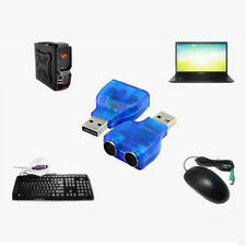 USB/PS2 Adaptateur Fibre optique audio mâle convertisseur Bleu chaud Souris