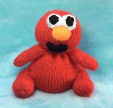 KNITTING PATTERN - Elmo inspired chocolate orange cover/ 13cms Sesame Street toy