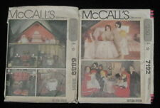 McCalls 6889 Doll House w/Furniture + 7192 Dolls and Clothes Pattern Lot Uncut