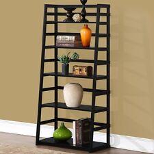 "Simpli Home Acadian 30"" Wide X 63"" High Ladder Shelf Bookcase In Black Bookcase"