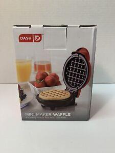"Red Dash Mini Waffle Maker Machine Non-Stick 4"" Individual Chaffle Keto Diet"