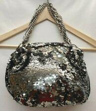 NEXT Ladies Womens Bag Silver Sequence Party Shoulder Handbag