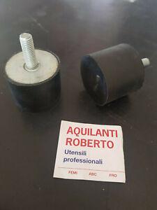 PIEDINO ANTIVIBRANTE PARACOLPO FINECORSA DA M8 X diam.40mm x H 30mm