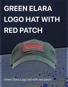 Elara Green and Red Logo Patch Hat Pre Order Safdie Brothers