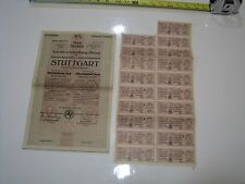 German Government City of Stuttgart 50000 M. Bond 1923