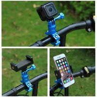 For GoPro HERO 7 6 5 4 PULUZ 360° Rotation Bike Aluminum Handlebar Adapter Mount