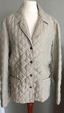 mat de misaine leicht wattierte Damen Jacke in Beige fürs Frühjahr Size 3 Gr.38