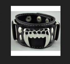 Vampire Fang Pleather Wristband (NEW)