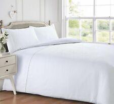 White Waffle Luxury Duvet Cover and Pillowcase Bedding Set