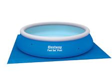 Bestway telo base fondo piscina piscine fuori terra rotonda 396 cm 58002