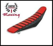 Ribbed Gripper Seat Cover Black/Red Honda CRF250R 2004- 09 CRF250X 2004-11